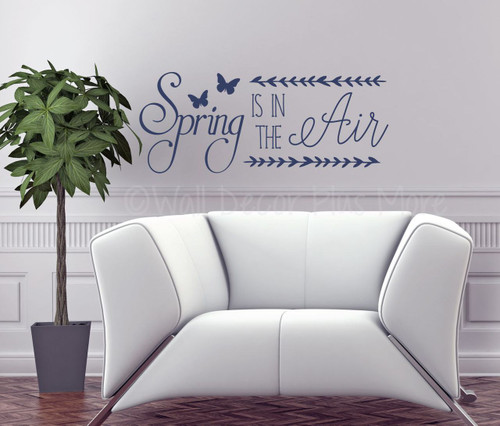 Spring is in the Air Wall Decals Vinyl Stickers Seasonal Decor-Deep Blue