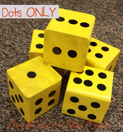Dots Stickers for Yard Yahtzee Block Cubes Polka Dots Peel Stick