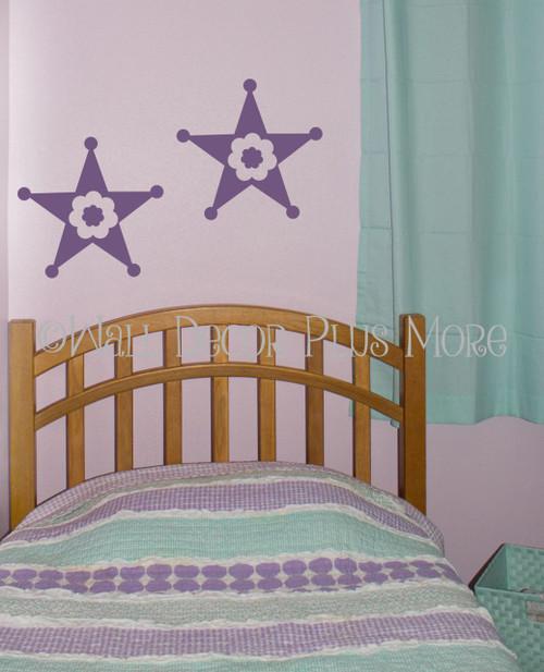Girls Western Star  Wall Graphic Decals Vinyl Stickers