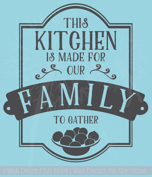 Popular Kitchen Quotes Vinyl Wall Stickers Decal Family To Gather