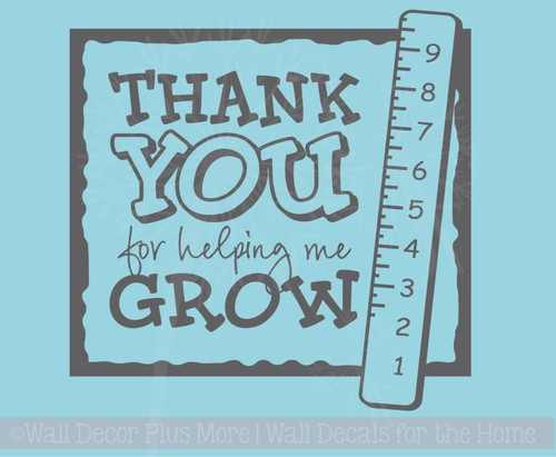 Thank you for Helping Me Grow Wall Decal for School Teacher