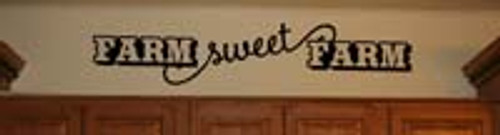 Farm Sweet Farm Country Wall Decal Sticker Quote