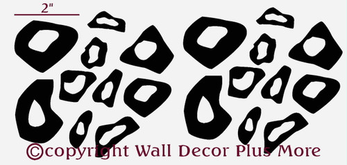 Tiny Leopard Print Rings and Dots, Glossy Vinyl Stickers Decals, 20pc
