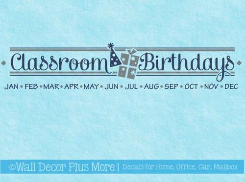Classroom Birthdays Vinyl Sticker Decals for School Birthday Board DIY Project