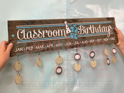 Classroom Birthdays DIY Project Vinyl Sticker Decals