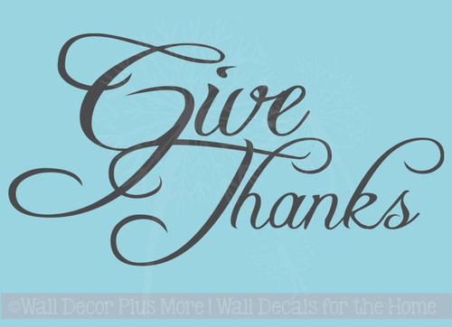 Give Thanks with Acorns and Leaves Wall Decals for Thanksgiving Day Decor