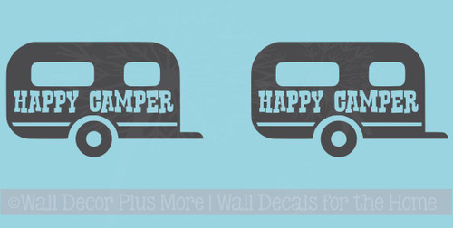 Monogram Vinyl Sticker Decals with Camper for RTIC or Yeti Tumblers, Set of 2