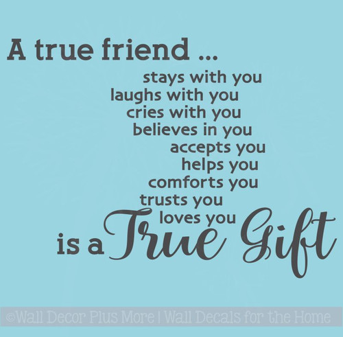A True Friend.... is a True Gift Vinyl Wall Letters Decal Stickers