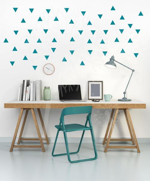 Tiny Triangles Wall Vinyl Sticker Shapes Peel-n-Stick Fun Easy Wall Decor