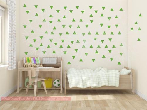 Tiny Triangles Wall Vinyl Sticker Shapes Peel N Stick Fun Easy Wall Decor