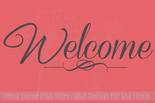 Welcome Sticker for Front Door Modern Wall Art Decals
