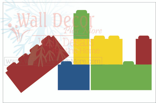 Building Blocks Wall Decal Stickers for Kids Toy Room Wall Decor