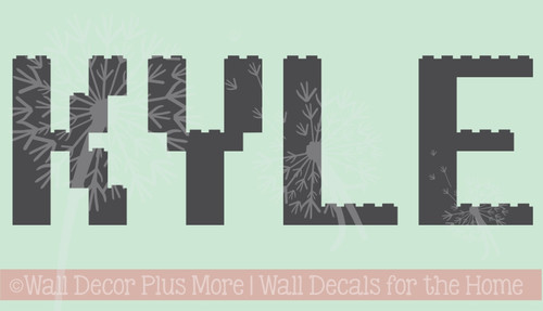 Building Blocks Custom Name Wall Decal Sticker