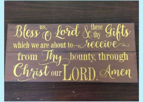 bless us o lord vinyl sticker wall decal religious prayer wall words
