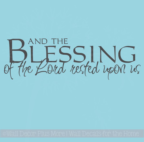 And the Blessing of the Lord.. Wall Decal Stickers Religious Quotes