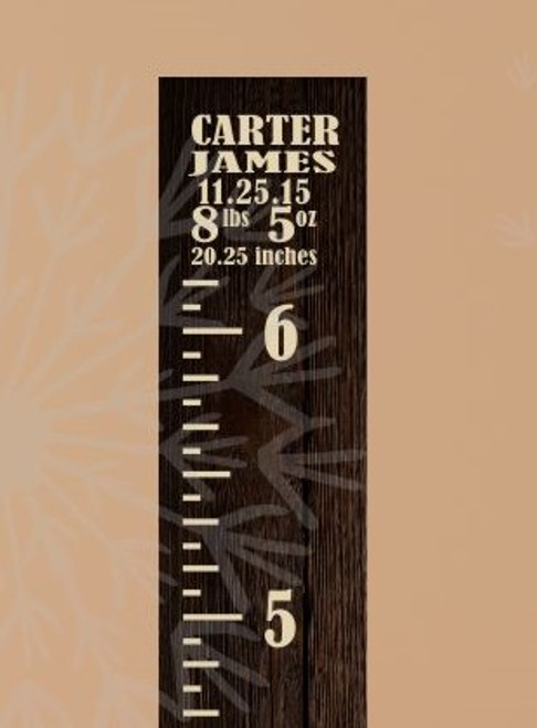 Vintage Height Ruler Baby Infant Stats Wall Growth Chart Vinyl Stickers