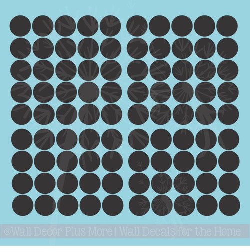 2-Inch Solid Polka Dots Vinyl Wall Stickers for Cool Room Décor