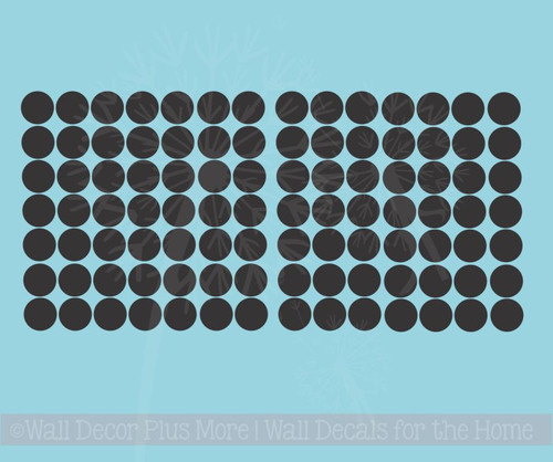 1.5-Inch Solid Polka Dots Vinyl Wall Stickers for Cool Room Décor