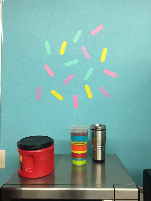Confetti Wall Sticker Shapes for Decorating for a Party, Bright Wall Décor, Photo Booth