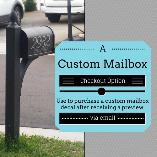 Custom Mailbox Decals - Contact Us for a custom design for your mailbox!