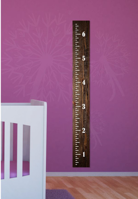 Vintage Height Ruler Oversized Plain Wall Decal Chart Vinyl Stickers 6ft