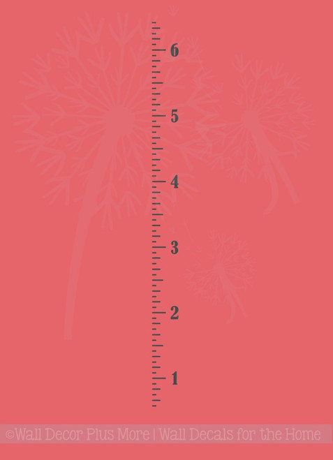 Vintage Oversized Plain Growth Chart Ruler Wall Decal Vinyl Stickers 6 Foot
