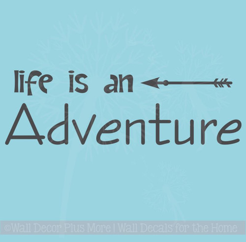 Life Is An Adventure Wall Decal Sticker With Modern Arrow Art