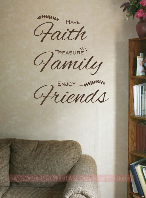 Have Faith Treasure Family Wall Art Decal Vinyl Lettering