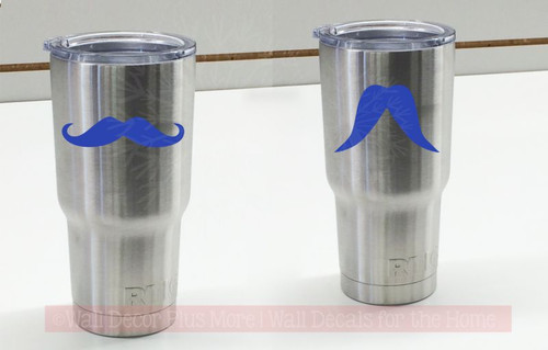 Mustache Tumbler Decals 6 Options Vinyl Stickers for Mug or Cup