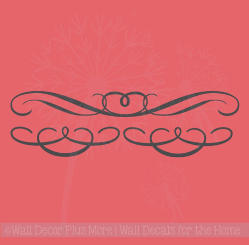 Set of 3 Swirls Curls Wall Art Decals Vinyl Sticker for Home Décor
