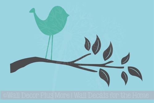 Bird Branch Wall Art Decals Wall Vinyl Stickers for Kids Room Decor