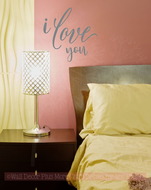 I Love You Wedding Bedroom Wall Lettering Wall Decals Sticker Quotes