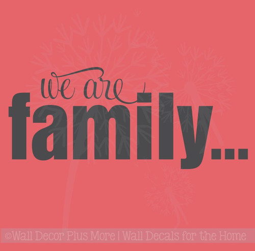 We are Family Wall Décor Lettering Wall Decal Sticker Quotes