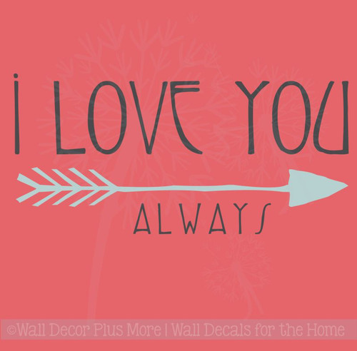 Love You Always Wall Lettering Wall Decal Sticker Love Quotes Vinyl Art