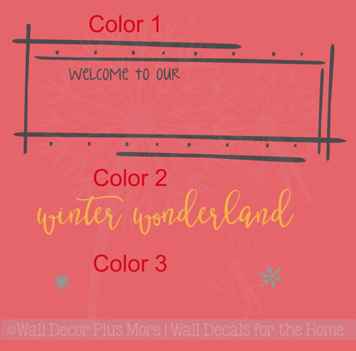 Welcome to Winter Wonderland Wall Art Lettering Wall Decal Holiday Stickers