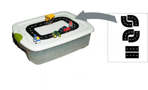 Car Race Track Pretend Play Decal Stickers for Tote Lid