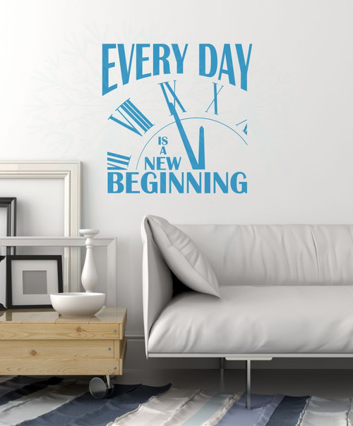 Every Day is a new Beginning Motivational Quotes Wall Decals Sticker-Bayou Blue