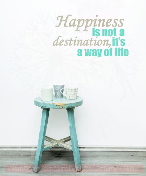 Happiness Its A Way Of Life Motivational Quotes Wall Art Decal Stickers New Quotes Wall Art