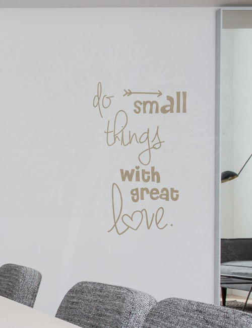 Do Small Things With Love Quotes Wall Decals Stickers Motivational Impressive Love Quotes Wall Decals