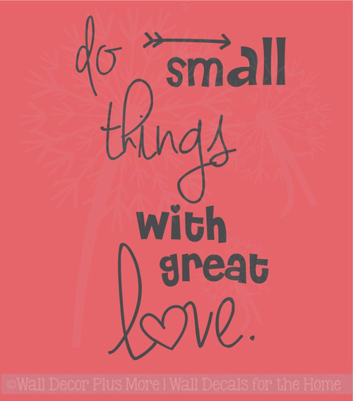 Do Small Things With Love Quotes Wall Decals Stickers Motivational Home Decor