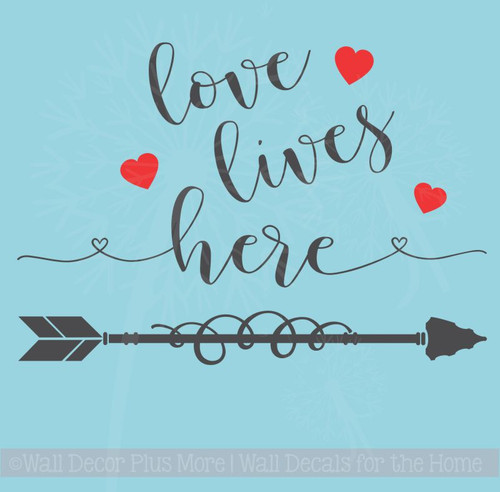 Love Lives Here Home Decor Vinyl Lettering Wall Sticker Bedroom Quotes