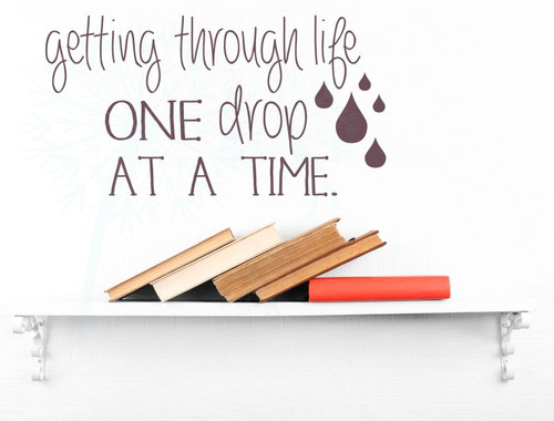 One Drop at a Time EO Quotes Wall Decor Vinyl Lettering Stickers Wall Decals-Eggplant