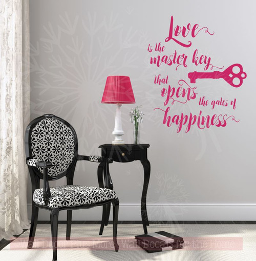 Love Is The Key To Happiness Wall Decor from cdn11.bigcommerce.com