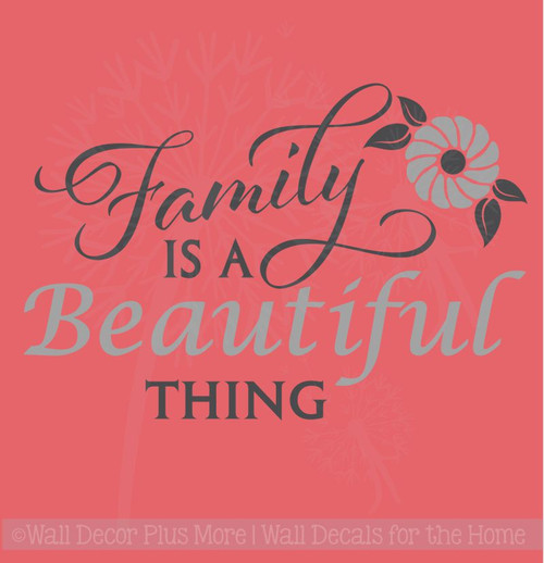 Family Is A Beautiful Thing Wall Decor Art Vinyl Lettering Wall Decals About Family