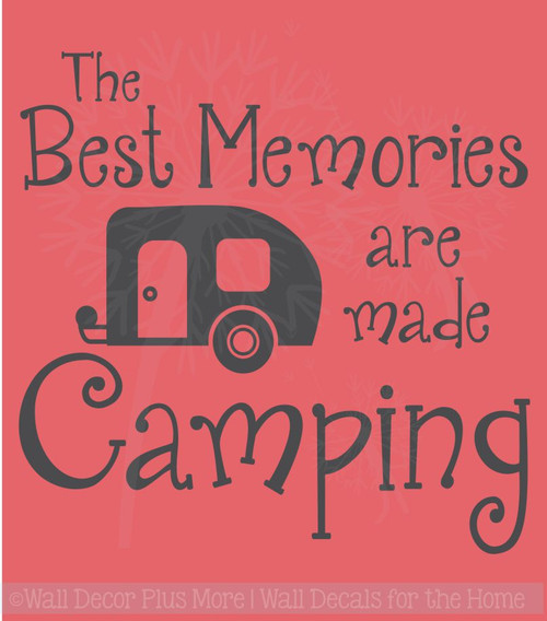 best memories made camping quotes vinyl lettering art wall sticker