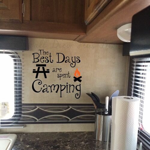 Camper RV Wall Decor Decals Vinyl Stickers Summer Quotes