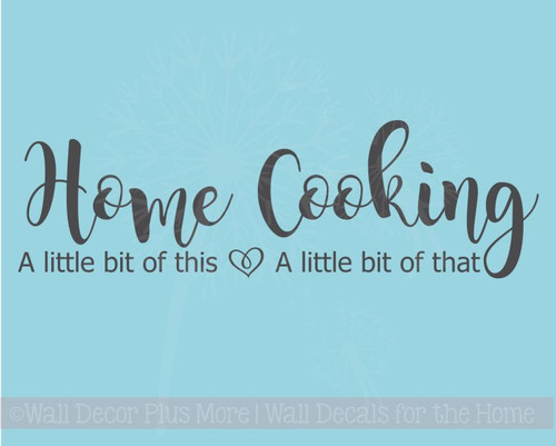 Home Cooking Little This Little That Vinyl Lettering Family Home Wall Decals Kitchen Decor Stickers