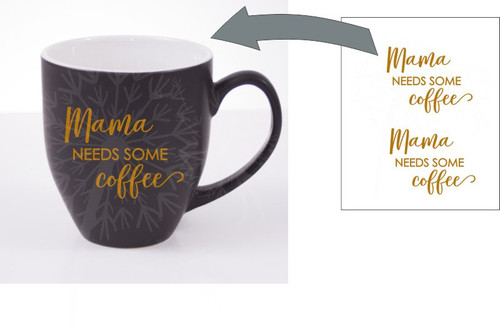 Mama Needs Coffee Mug Decals Vinyl Lettering Stickers Rtic Yeti Sayings Copper