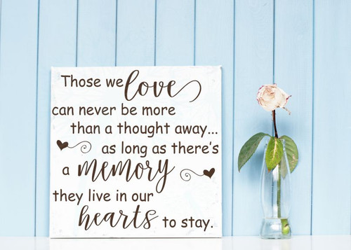 Those We Love Live In Our Hearts Memorial Vinyl Lettering Wall Decal Stickers Family Home Decor-Chocolate Brown