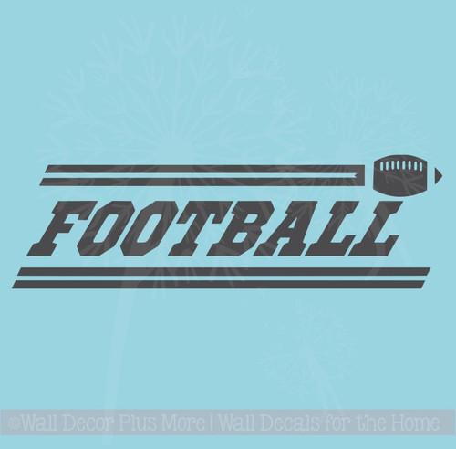 Football Boys Wall Stickers Vinyl Lettering Art Sports Decals Bedroom Decor